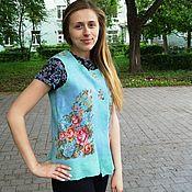 Одежда handmade. Livemaster - original item The vest is felted from Merino bilateral Russian style. Handmade.