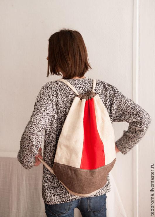 Рюкзаки ручной работы. Ярмарка Мастеров - ручная работа. Купить Льняной рюкзак. Handmade. Комбинированный, летний рюкзак, рюкзак мужской