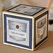 Сувениры и подарки ручной работы. Ярмарка Мастеров - ручная работа Мужской кубик принятия решений. Handmade.