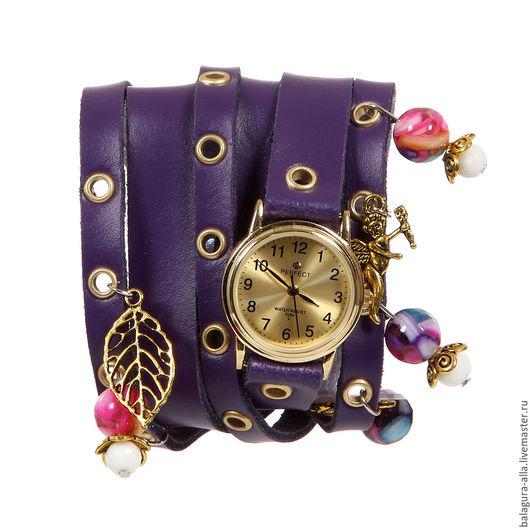 """Часы ручной работы. Ярмарка Мастеров - ручная работа. Купить Часы """"VIOLET"""". Handmade. Фиолетовый, часы с браслетом, часики, стиль"""