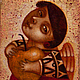 """Персональные подарки ручной работы. Ярмарка Мастеров - ручная работа. Купить """"Ангел с яблоком"""", авторская печать. Handmade. Оранжевый, Пасха"""