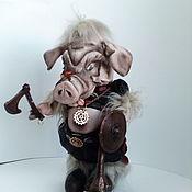 Куклы и игрушки handmade. Livemaster - original item Viking pig Year boar. Handmade.