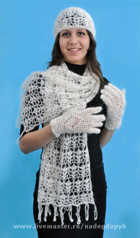 Sets of Items handmade. Livemaster - handmade. Buy 79-a set of knitted accessories, scarf, hat, gloves.