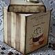 """Кухня ручной работы. Короб для хранения """"Cafe de Paris"""". Некрасова Екатерина (katxarina). Ярмарка Мастеров. Короб для кухни"""