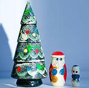 Русский стиль handmade. Livemaster - original item The Christmas tree matryoshka doll. Handmade.