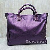 Сумки и аксессуары handmade. Livemaster - original item Bag of genuine leather and Python skin. Handmade.