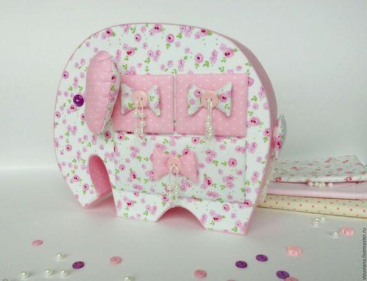 Подарки для новорожденных, ручной работы. Ярмарка Мастеров - ручная работа. Купить Комодик - слоник. Handmade. Бледно-розовый, слоник
