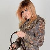 Одежда handmade. Livemaster - original item Coat fleece LESTER + bag. Handmade.