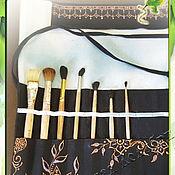 Органайзеры ручной работы. Ярмарка Мастеров - ручная работа Пенал органайзер для кистей. Совместная работа. Handmade.