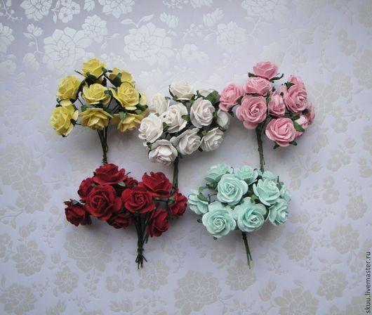 Открытки и скрапбукинг ручной работы. Ярмарка Мастеров - ручная работа. Купить Розы 2 см 12 расцветок. Handmade. Розы