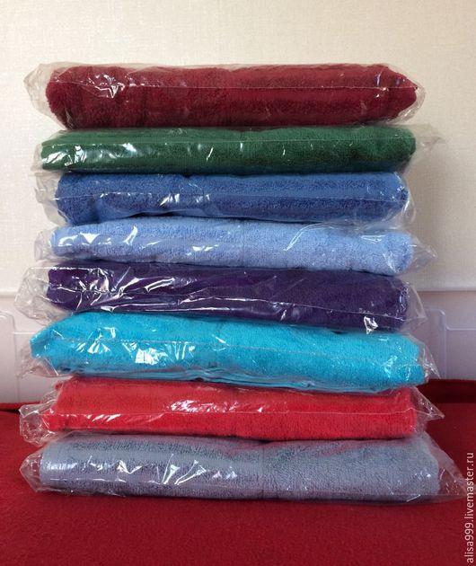 Текстиль, ковры ручной работы. Ярмарка Мастеров - ручная работа. Купить Махровые банные полотенца.Цветные. Handmade. Тёмно-зелёный