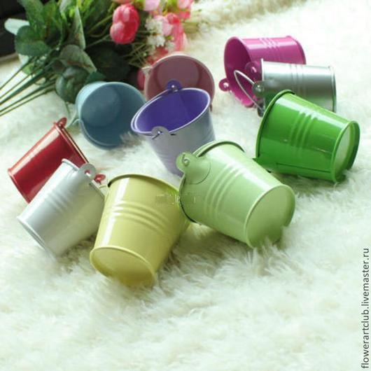 Другие виды рукоделия ручной работы. Ярмарка Мастеров - ручная работа. Купить Ведёрко металл - 10 цветов. Handmade. Ведро