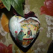 """Подарки к праздникам ручной работы. Ярмарка Мастеров - ручная работа Елочная игрушка """" Рождественская лавка"""". Handmade."""