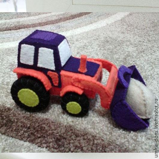 Техника ручной работы. Ярмарка Мастеров - ручная работа. Купить Трактор Погрузчик. Handmade. Комбинированный, интересный подарок, машина