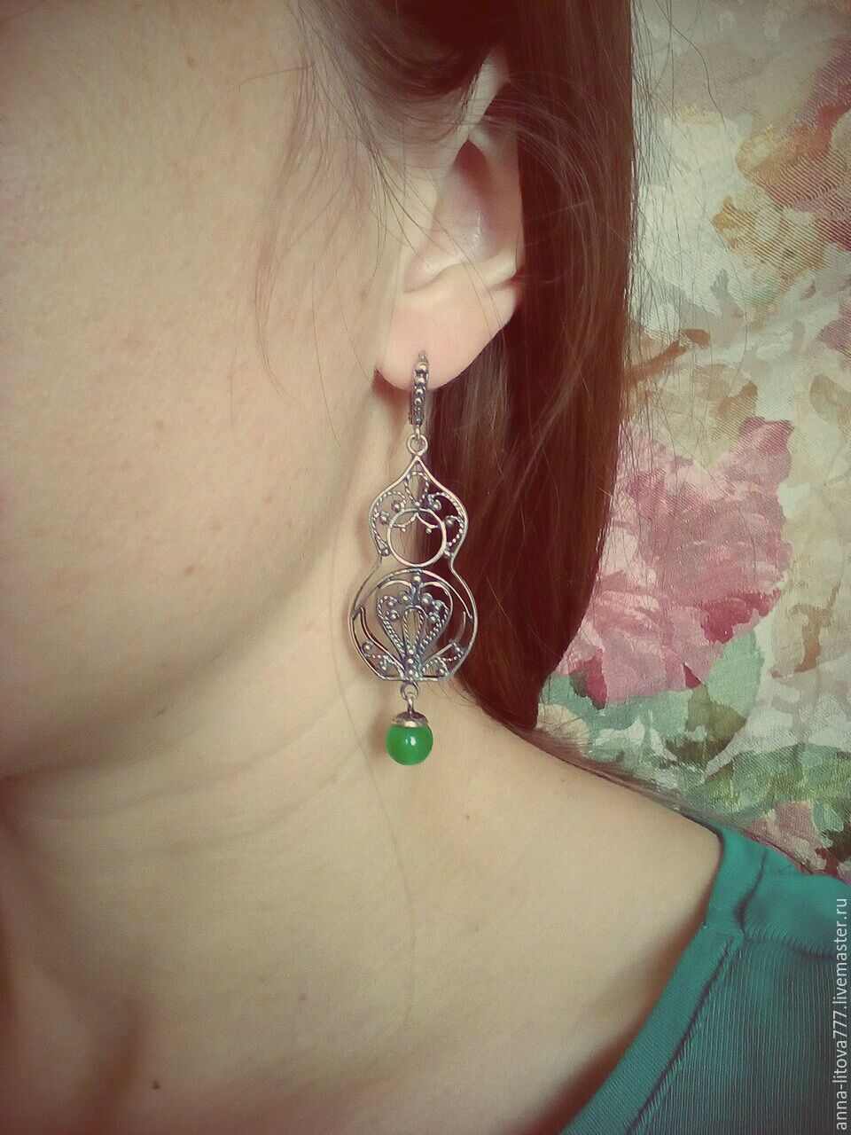 26 Earrings Matryoshka Silvering Anna Litova Litova777