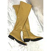 Обувь ручной работы handmade. Livemaster - original item Boots-thigh boots with low running. Handmade.