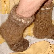 Аксессуары handmade. Livemaster - original item Supertasty socks from dog hair (article 52 m). Handmade.