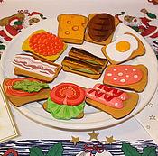 """Куклы и игрушки ручной работы. Ярмарка Мастеров - ручная работа """"Завтрак зимним утром"""". Набор игровой для детей. Handmade."""
