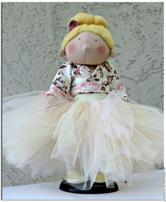 Человечки ручной работы. Ярмарка Мастеров - ручная работа. Купить Шарнирная текстильная кукла Ефросинья. Handmade. Розовый, шарнирная кукла
