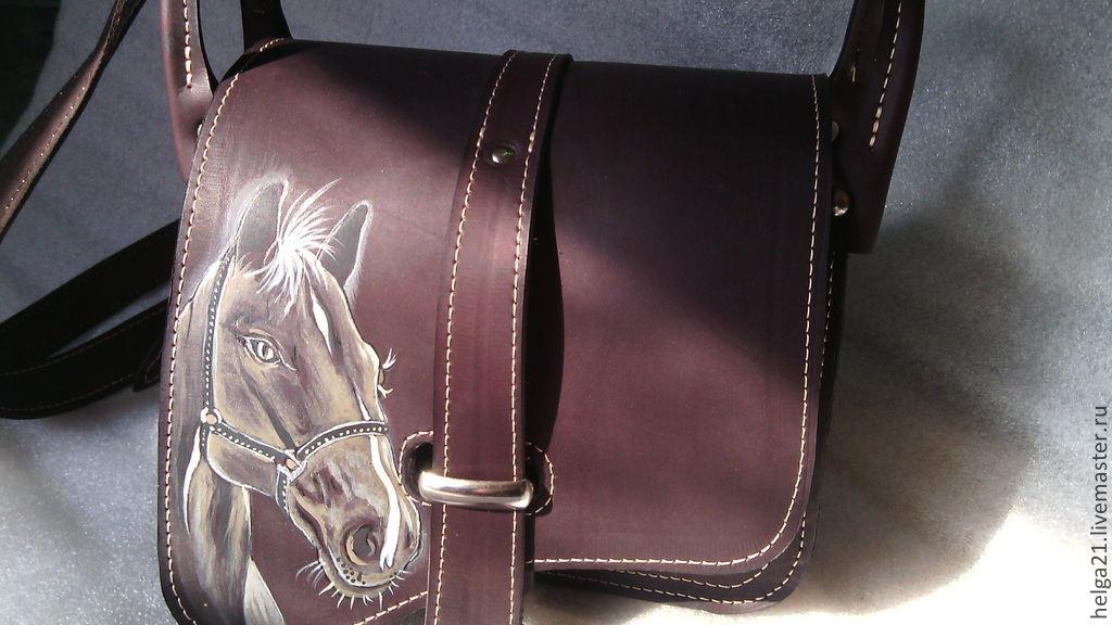 Купить сумку с лошадьми
