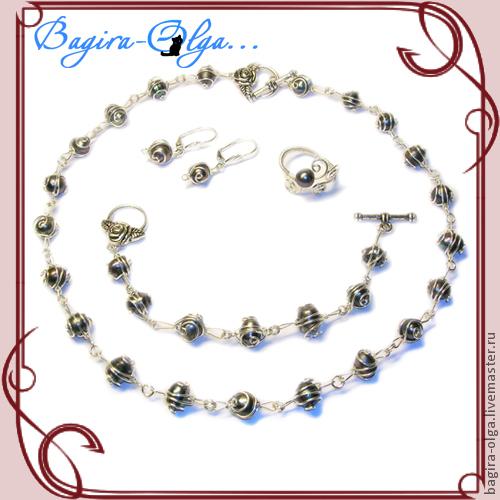 длина ожерелья от 40 до 60 см (1500-2200р)  браслет 18-20 см (800р) на фото - серьги Лори (450р)