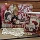 """Фотоальбомы ручной работы. Ярмарка Мастеров - ручная работа. Купить Альбом """"Винтаж""""ручной работы альбом для фотографий. Handmade. Бордовый"""