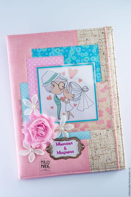Подарки на свадьбу ручной работы. Ярмарка Мастеров - ручная работа. Купить Папка для свидетельства о браке. Handmade. Розовый, папка