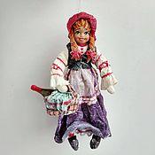 Сувениры и подарки handmade. Livemaster - original item Christmas cotton toy: Little Red Riding Hood. Handmade.