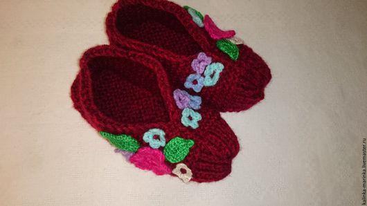 Обувь ручной работы. Ярмарка Мастеров - ручная работа. Купить Тапочки вязаные. Handmade. Тапочки, Вязание крючком