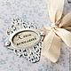 Книга пожеланий свадебная. На обложке книги в рамке может быть написано ваши имя или инициалы.