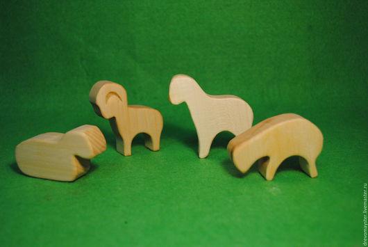 Игрушки животные, ручной работы. Ярмарка Мастеров - ручная работа. Купить Домашние животные. Handmade. Игрушка козел, липа