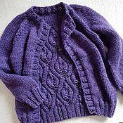 Одежда ручной работы. Ярмарка Мастеров - ручная работа Кардиган для девочки. Handmade.
