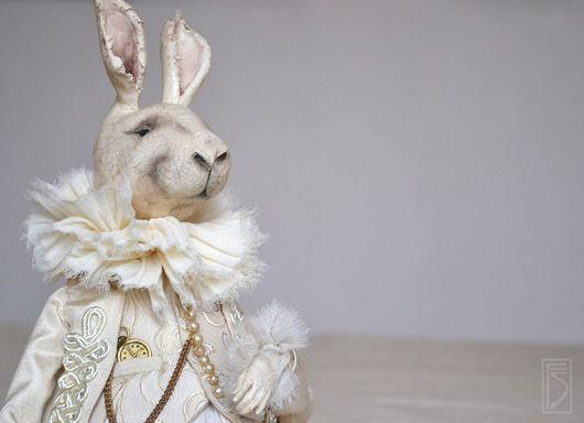 Коллекционные куклы ручной работы. Ярмарка Мастеров - ручная работа. Купить кролик Эдвард. Handmade. Бежевый, сказка, artista formo