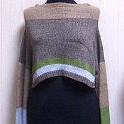 Одежда ручной работы. Ярмарка Мастеров - ручная работа Кашемировый вязаный кроп свитер Монвизо, 100% кашемир Loro Piana. Handmade.