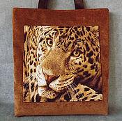 """Сумки и аксессуары ручной работы. Ярмарка Мастеров - ручная работа Сумка женская """"Большая кошка леопард"""" сумка из гобелена, текстиля. Handmade."""