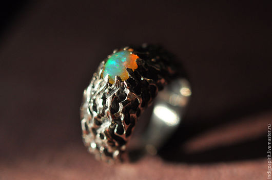 Кольца ручной работы. Ярмарка Мастеров - ручная работа. Купить Серебряное кольцо с опалом. Handmade. Серебряный, натуральный камень, кольцо