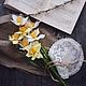 Цветы ручной работы. Ярмарка Мастеров - ручная работа. Купить Нарциссы.. Handmade. Лимонный, весенний цветок, солнечный, цветы весны