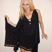 платье с ручной печатью золотом - Шахерезада