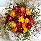 """Цветы и флористика ручной работы. Ярмарка Мастеров - ручная работа Букет  из сухоцветов """" Немножко лета """". Handmade."""