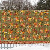 """Для дома и интерьера ручной работы. Ярмарка Мастеров - ручная работа Лоскутное одеяло """" Fallen leaves"""". Handmade."""