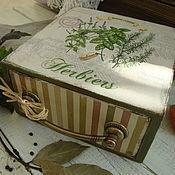"""Для дома и интерьера ручной работы. Ярмарка Мастеров - ручная работа Короб   """" Пряные травы"""". Handmade."""