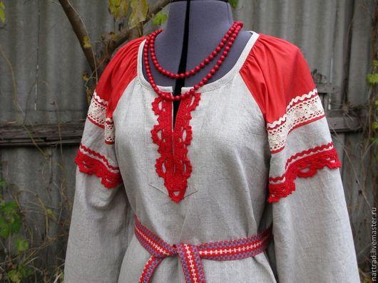 Этническая одежда ручной работы. Ярмарка Мастеров - ручная работа. Купить Платье русское женское. Handmade. Серый, народная традиция
