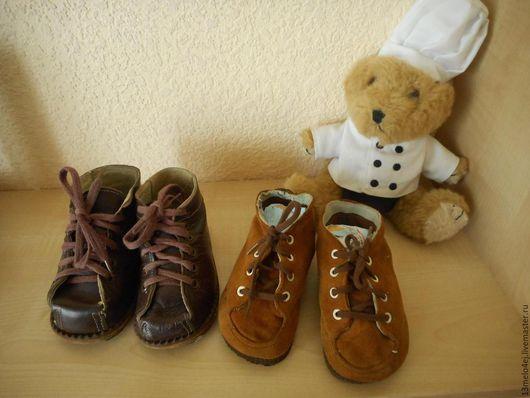 Реставрация. Ярмарка Мастеров - ручная работа. Купить ботиночки детские винтажные. Handmade. Ботиночки, коричневый