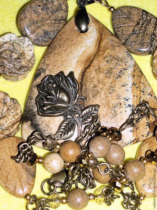 Комплекты украшений ручной работы. Ярмарка Мастеров - ручная работа. Купить Комплект «Рожденная песками». Handmade. Комплект украшений, бежевый