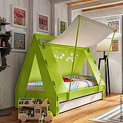 Для дома и интерьера ручной работы. Ярмарка Мастеров - ручная работа №17. Детская кроватка-домик. Handmade.