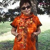 Одежда ручной работы. Ярмарка Мастеров - ручная работа Оранжевое платье.. Handmade.