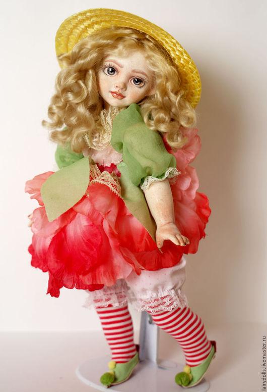 """Коллекционные куклы ручной работы. Ярмарка Мастеров - ручная работа. Купить Музыкальная кукла-фея """"Шептун"""" Розочка. Handmade. Розовый"""
