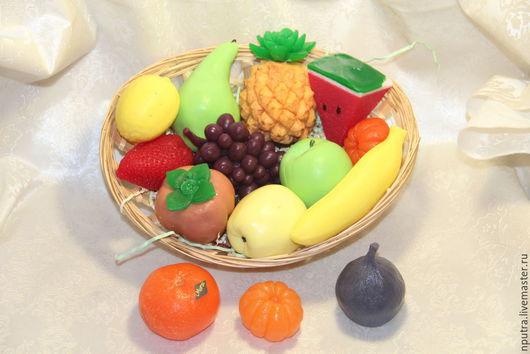 Персональные подарки ручной работы. Ярмарка Мастеров - ручная работа. Купить мыло фрукты. Handmade. Разноцветный, груша, яблоко, персик