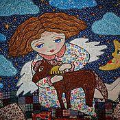 """Картины и панно ручной работы. Ярмарка Мастеров - ручная работа Панно """" Ангел с лошадкой"""". Handmade."""