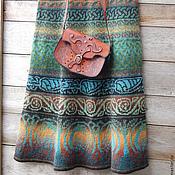 Одежда ручной работы. Ярмарка Мастеров - ручная работа Шерстяная вязаная юбочка для любителей зелёных оттенков. Handmade.